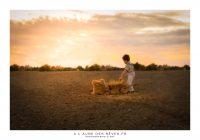 photographe coucher de soleil enfant