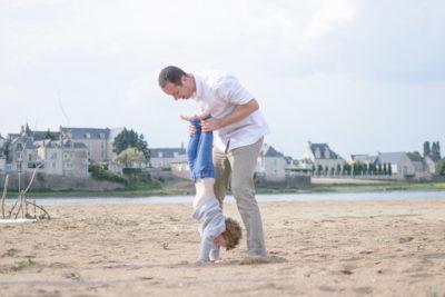 photo de famille plage loire