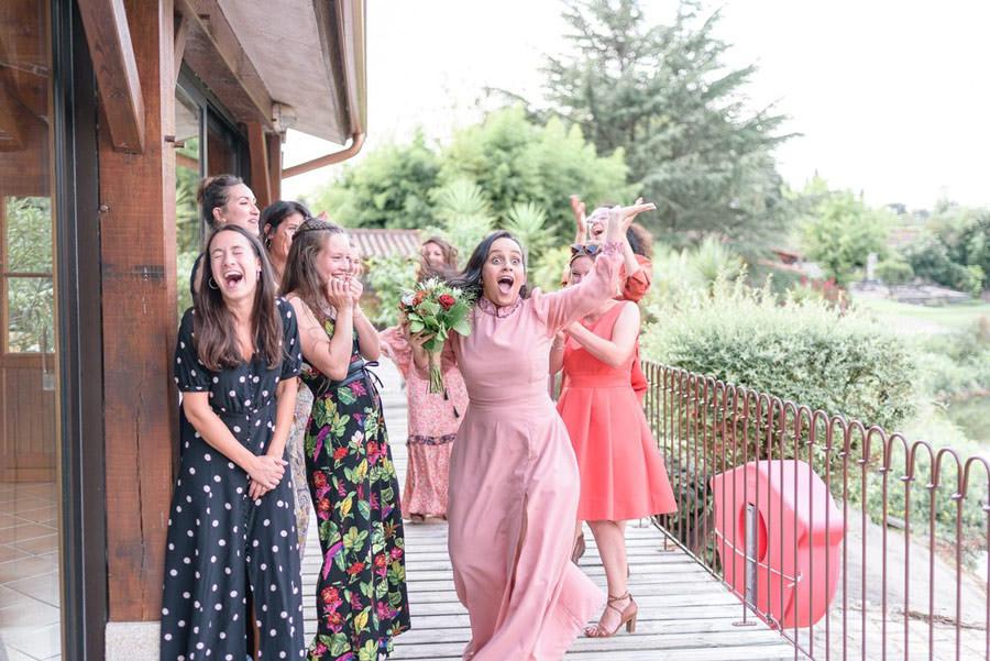 lancé de bouquet mariage nantes