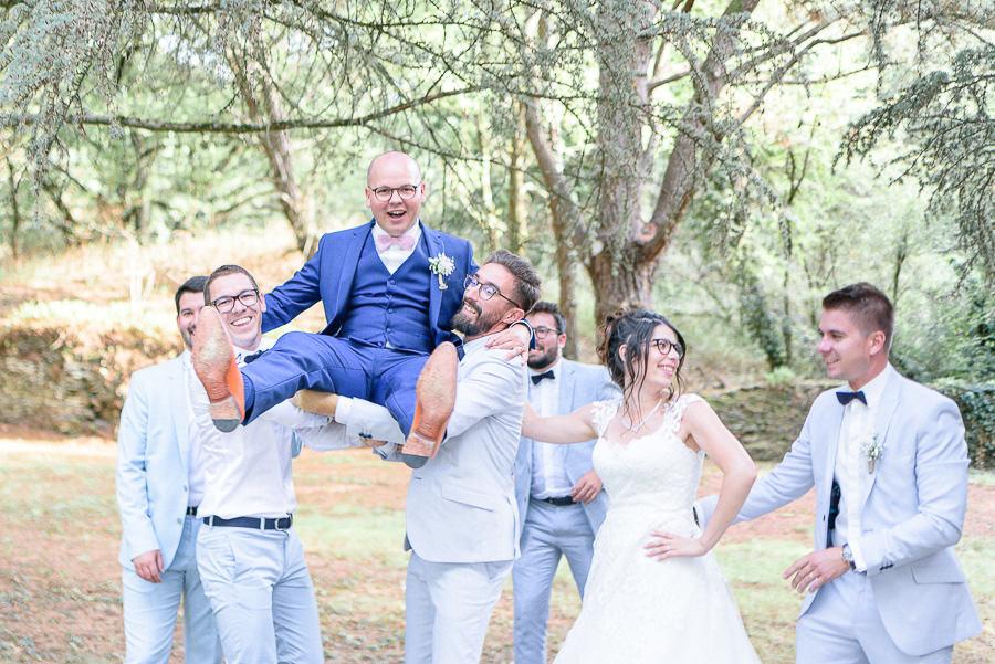 photo de groupe mariage saumur