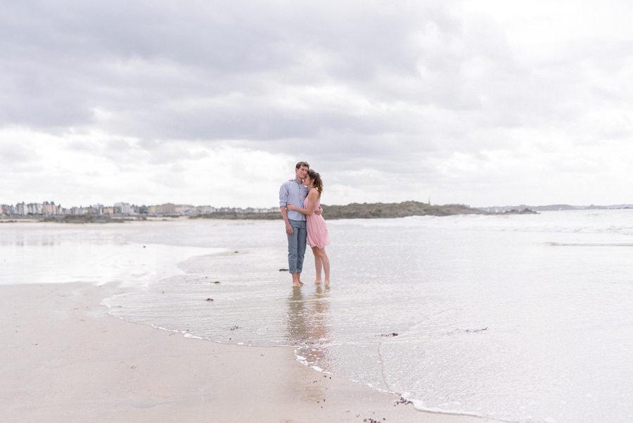 amoureux a la plage de st malo